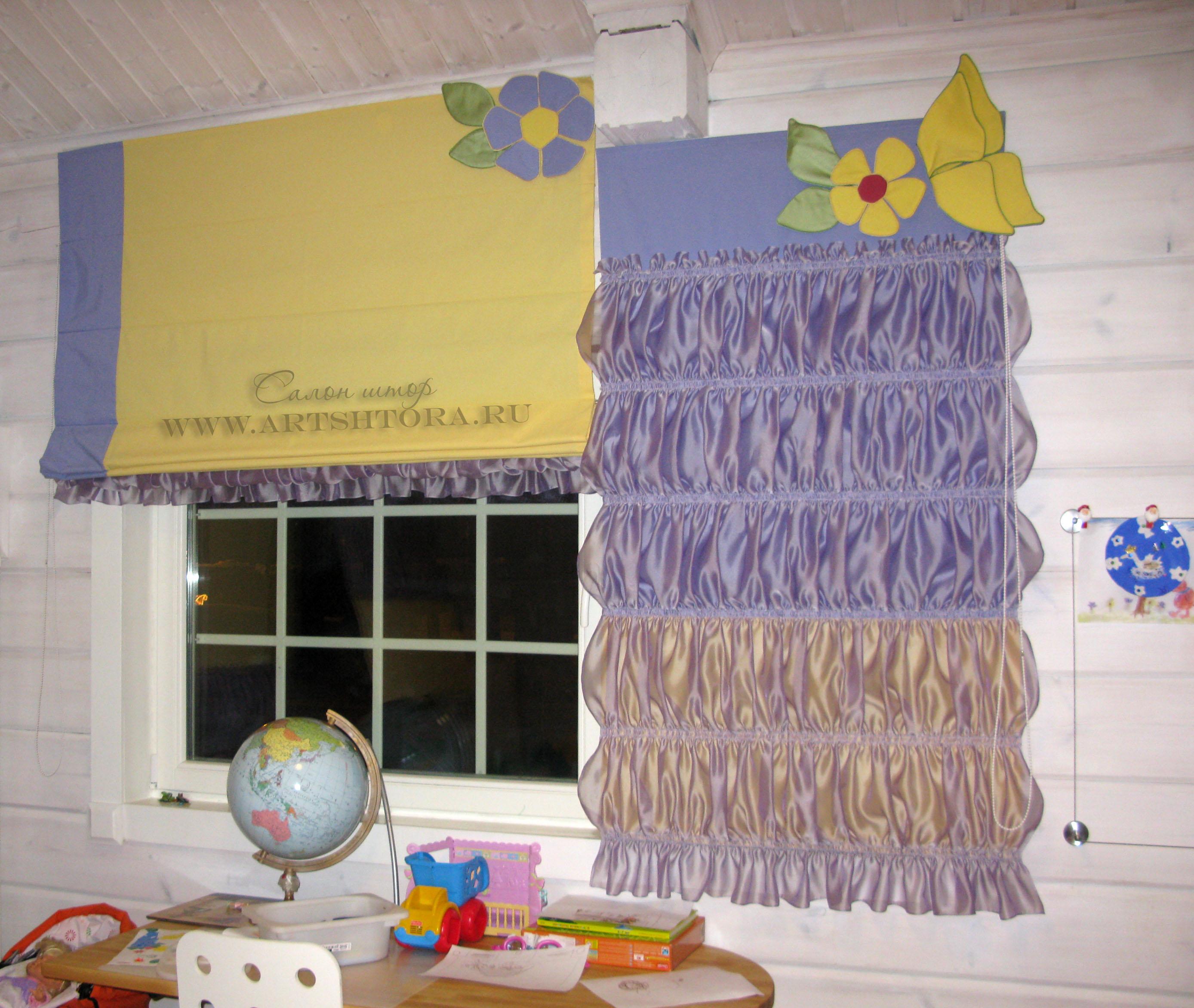 Римские шторы своими руками в детскую комнату 89