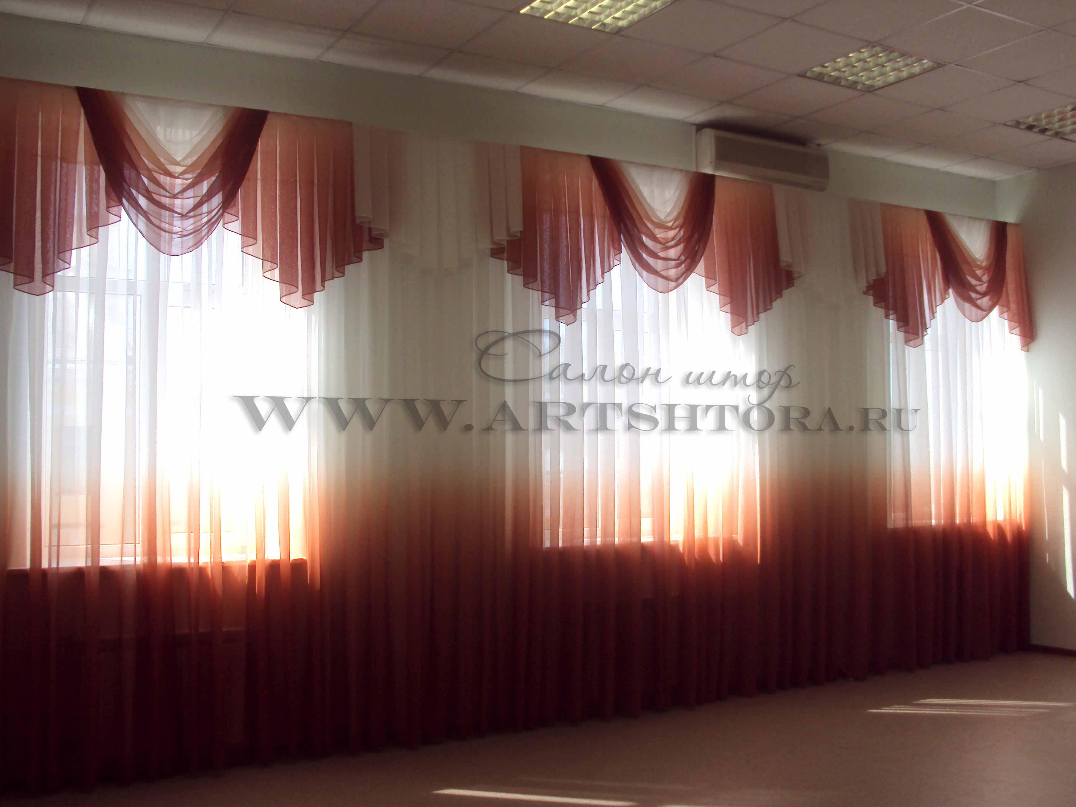 шторы в актовый зал. фото